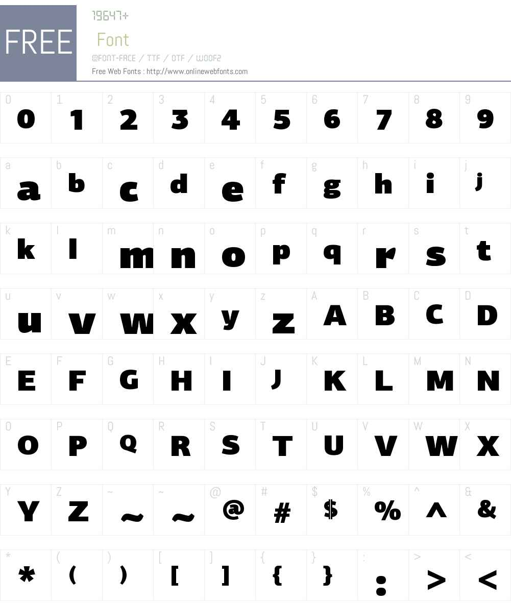 PFCentroSansW01-UltraBlack Font Screenshots