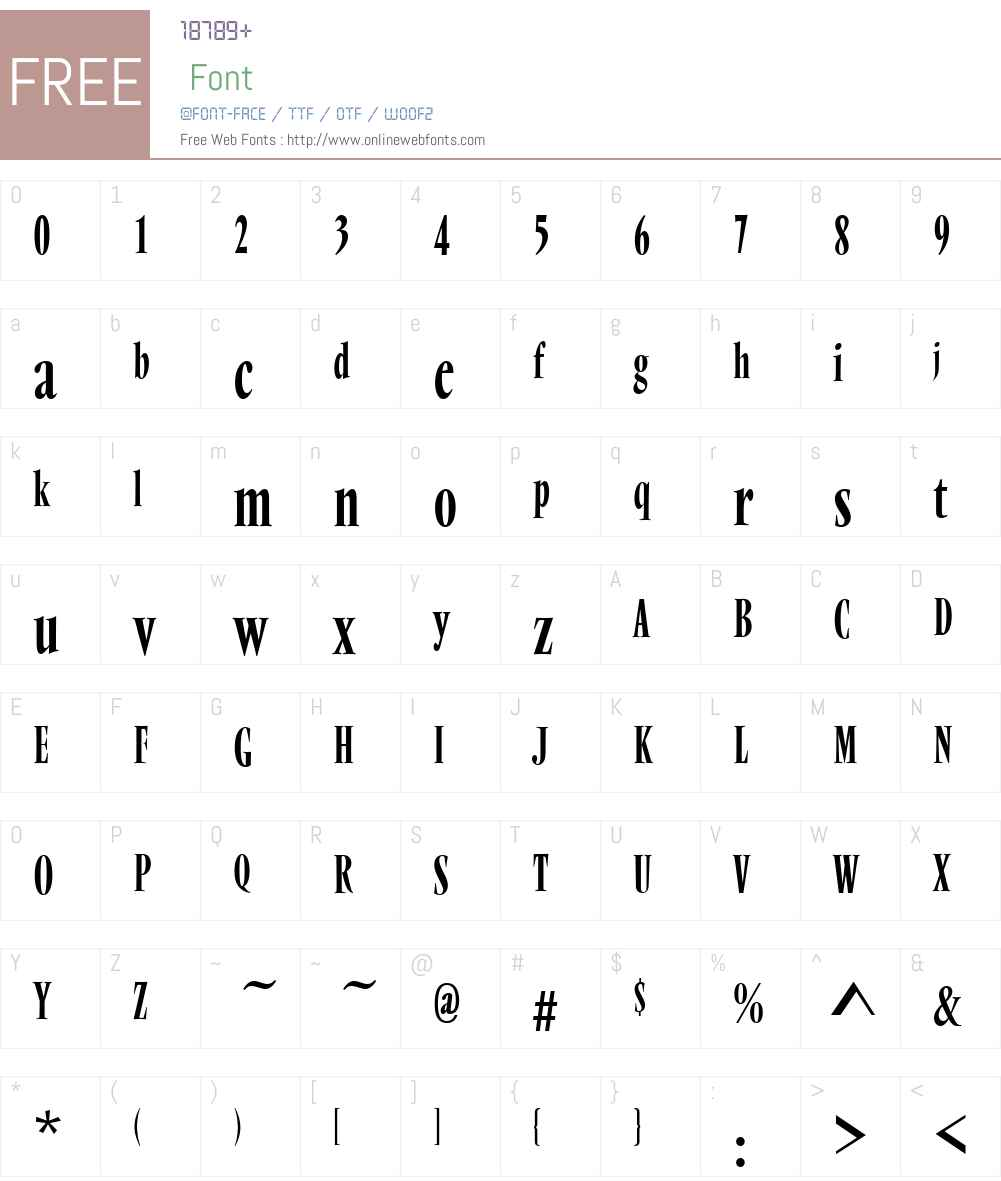 VendomeW01-CondensedRegular Font Screenshots