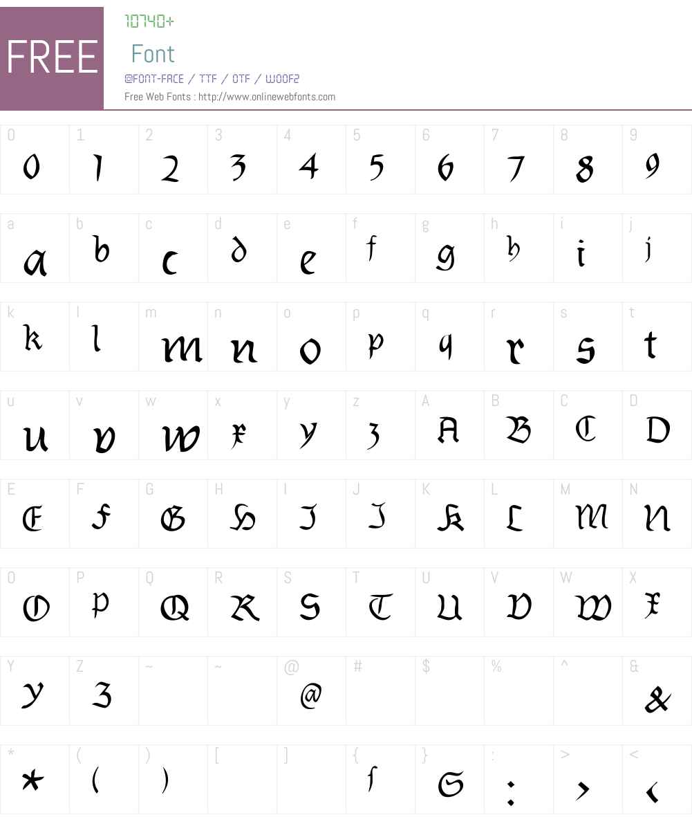 Burtinomatic Font Screenshots