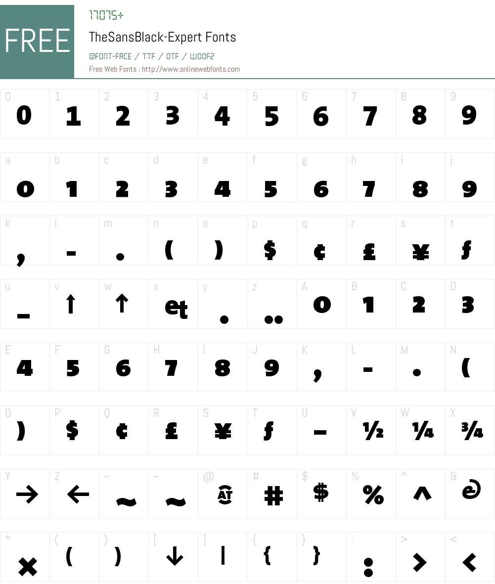 The Sans Black- Font Screenshots