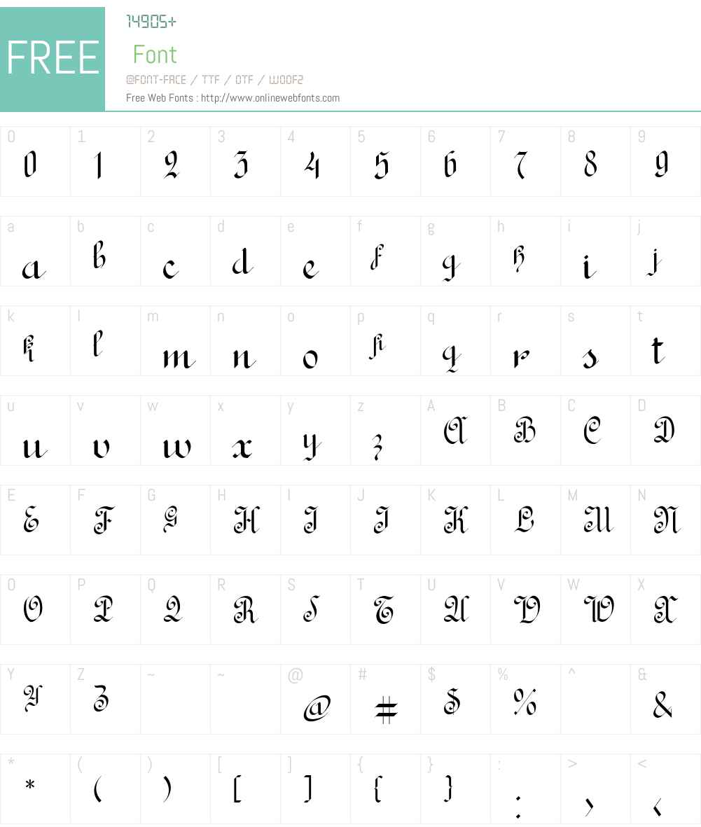 Rondo Ancient Two Font Screenshots