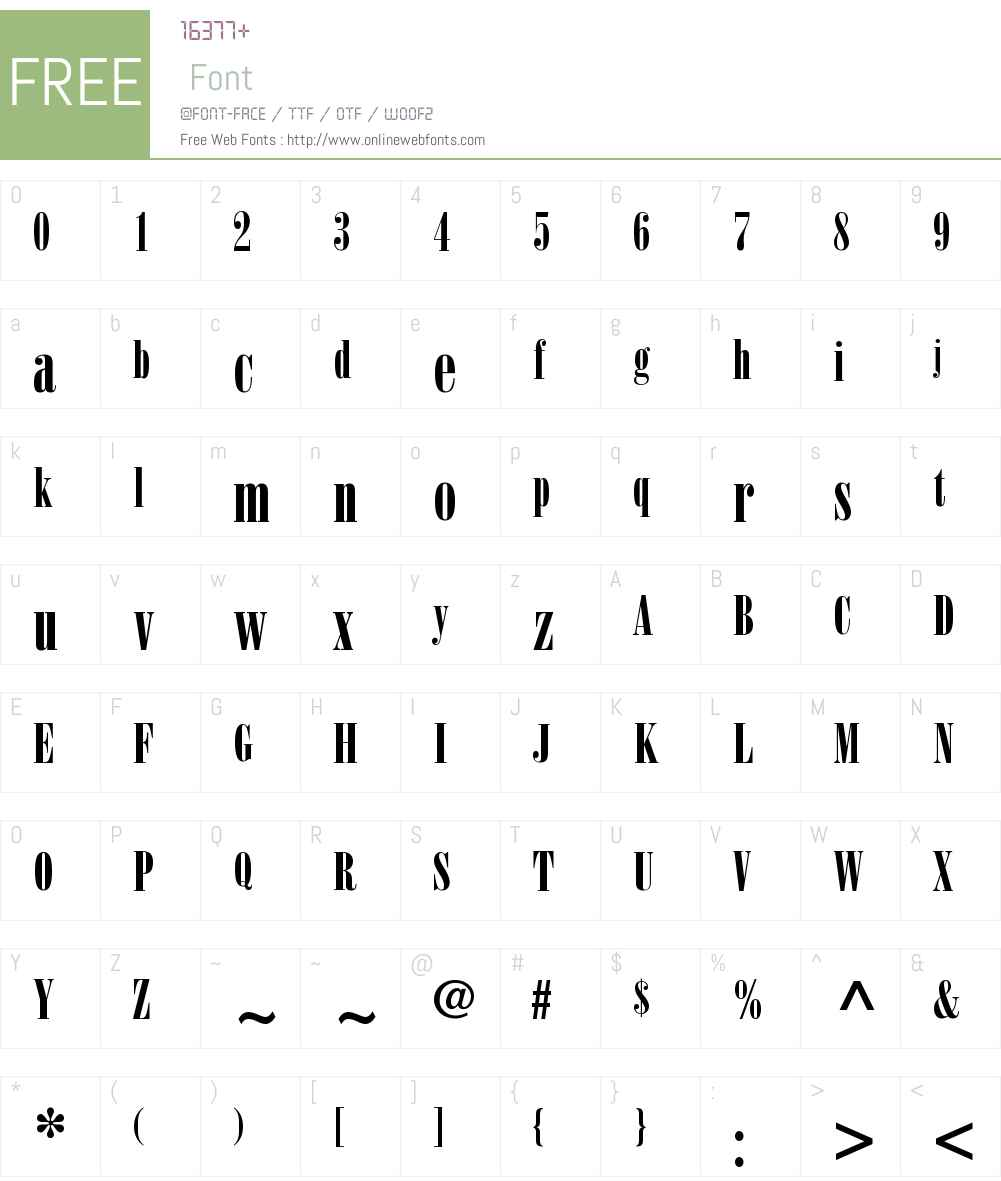 Bodoni Poster Compressed Font Screenshots