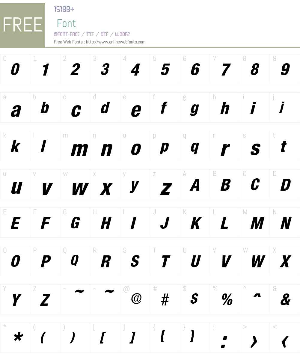 Olnova-ExtraBoldCondIta Font Screenshots