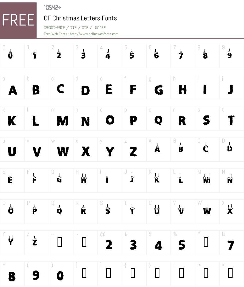 CF Christmas Letters Font Screenshots