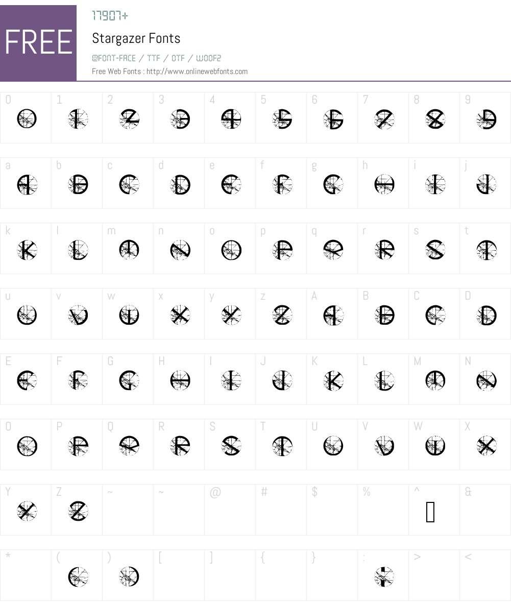 Stargazer Font Screenshots