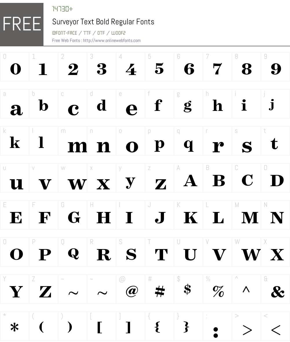 Surveyor Text Bold Font Screenshots