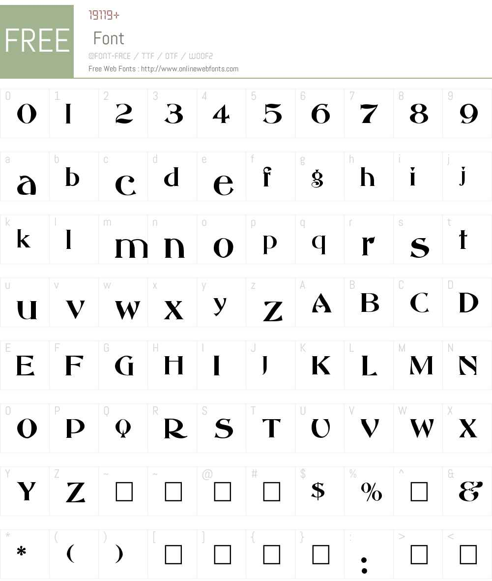 Abbess Font Screenshots