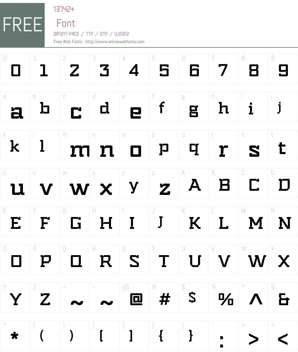 Indento Font Screenshots