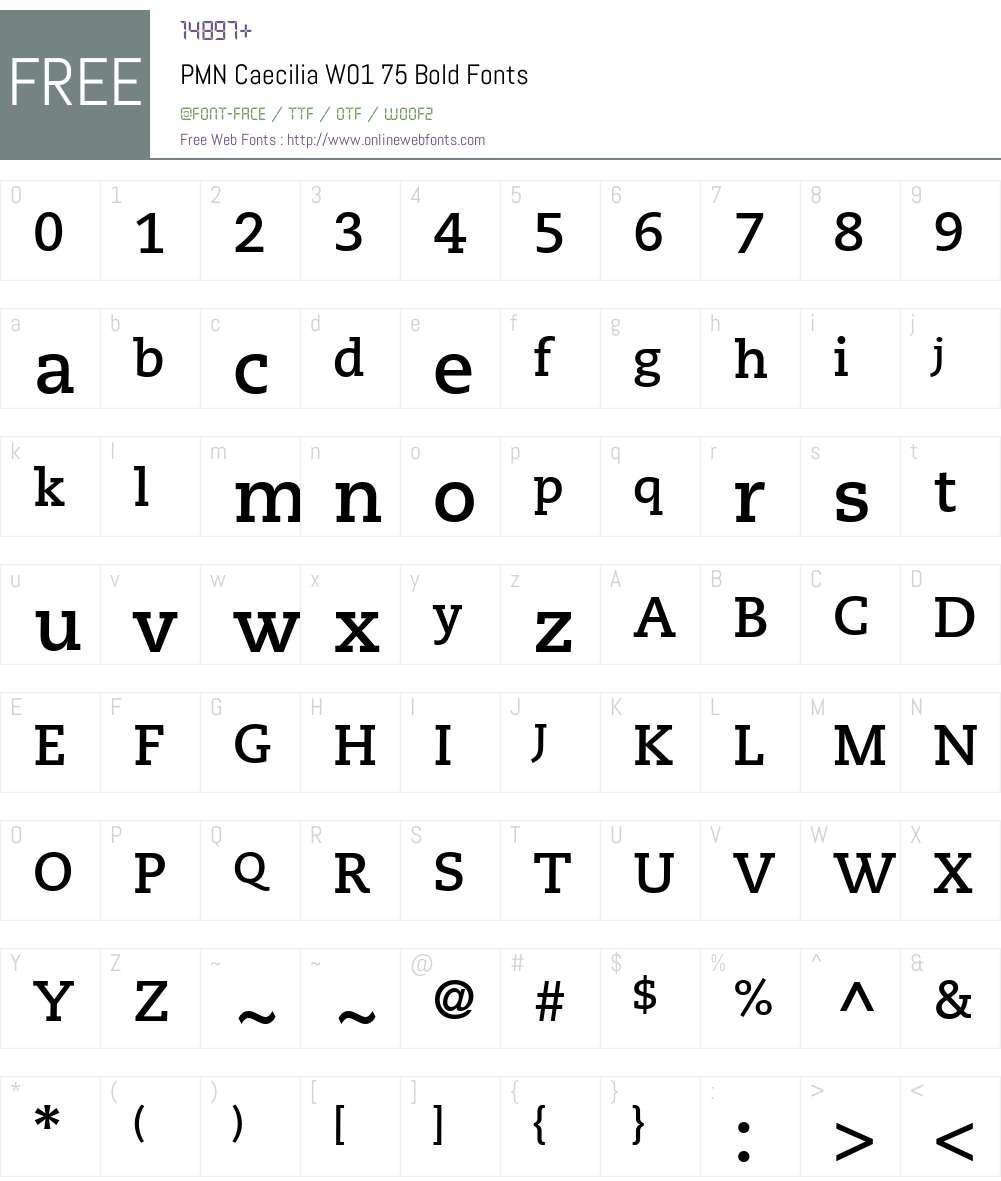 PMNCaeciliaW01-75Bold Font Screenshots