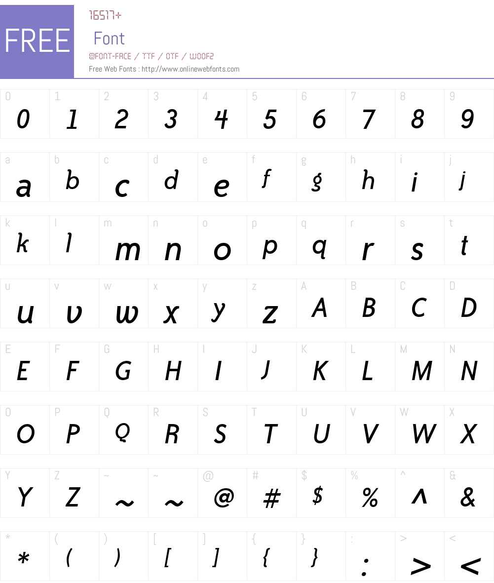 Bailey Sans ITC TT Font Screenshots