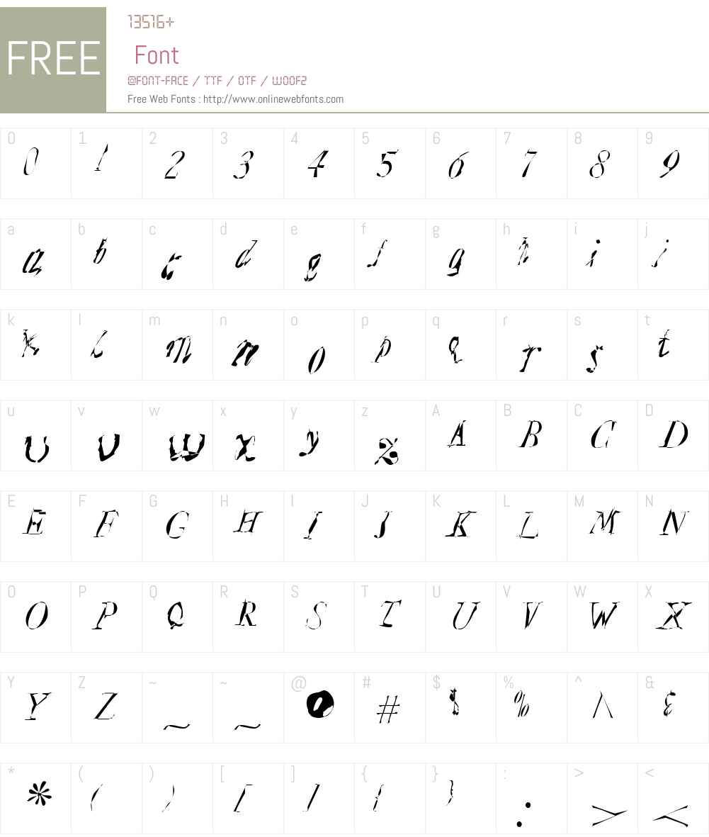 Plague Mass Font Screenshots