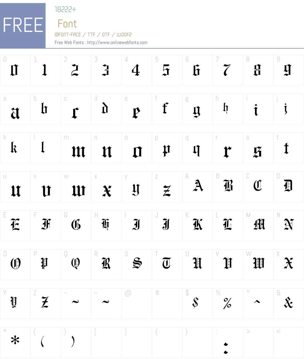 OPTIEngraversOldEnglish Font Screenshots
