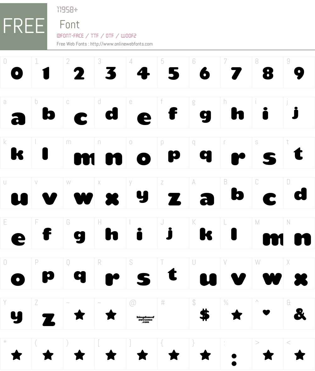 teaspoon Font Screenshots