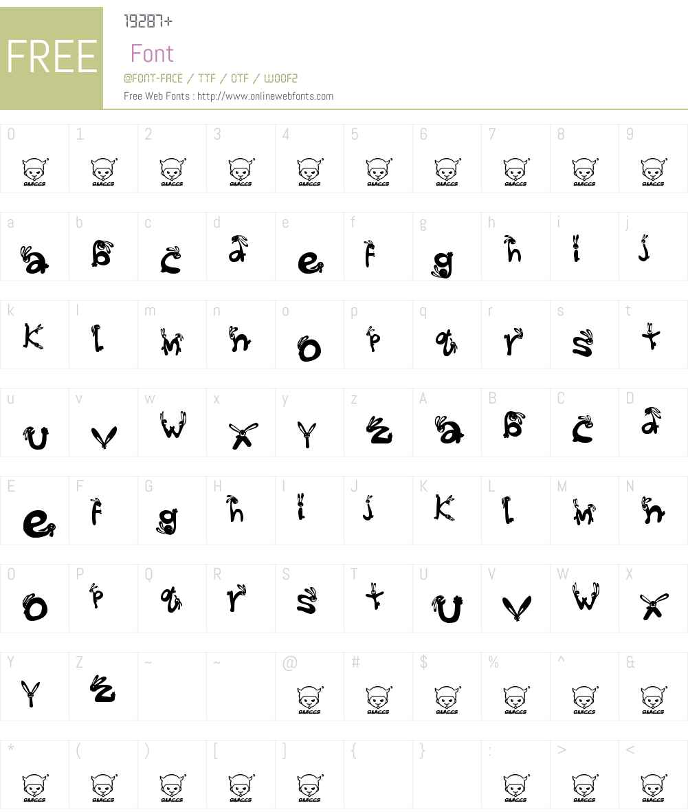 We_Wabbits_quikijiki Font Screenshots