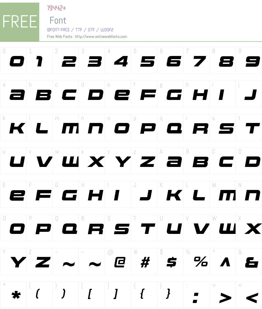 UniwarsW00-HeavyItalic Font Screenshots