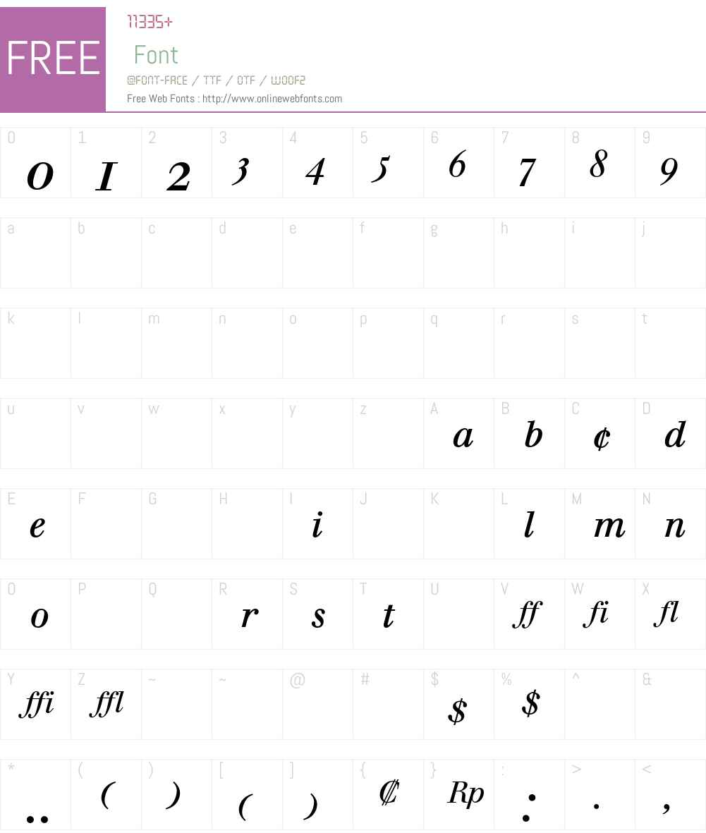 Berthold Walbaum Book Font Screenshots