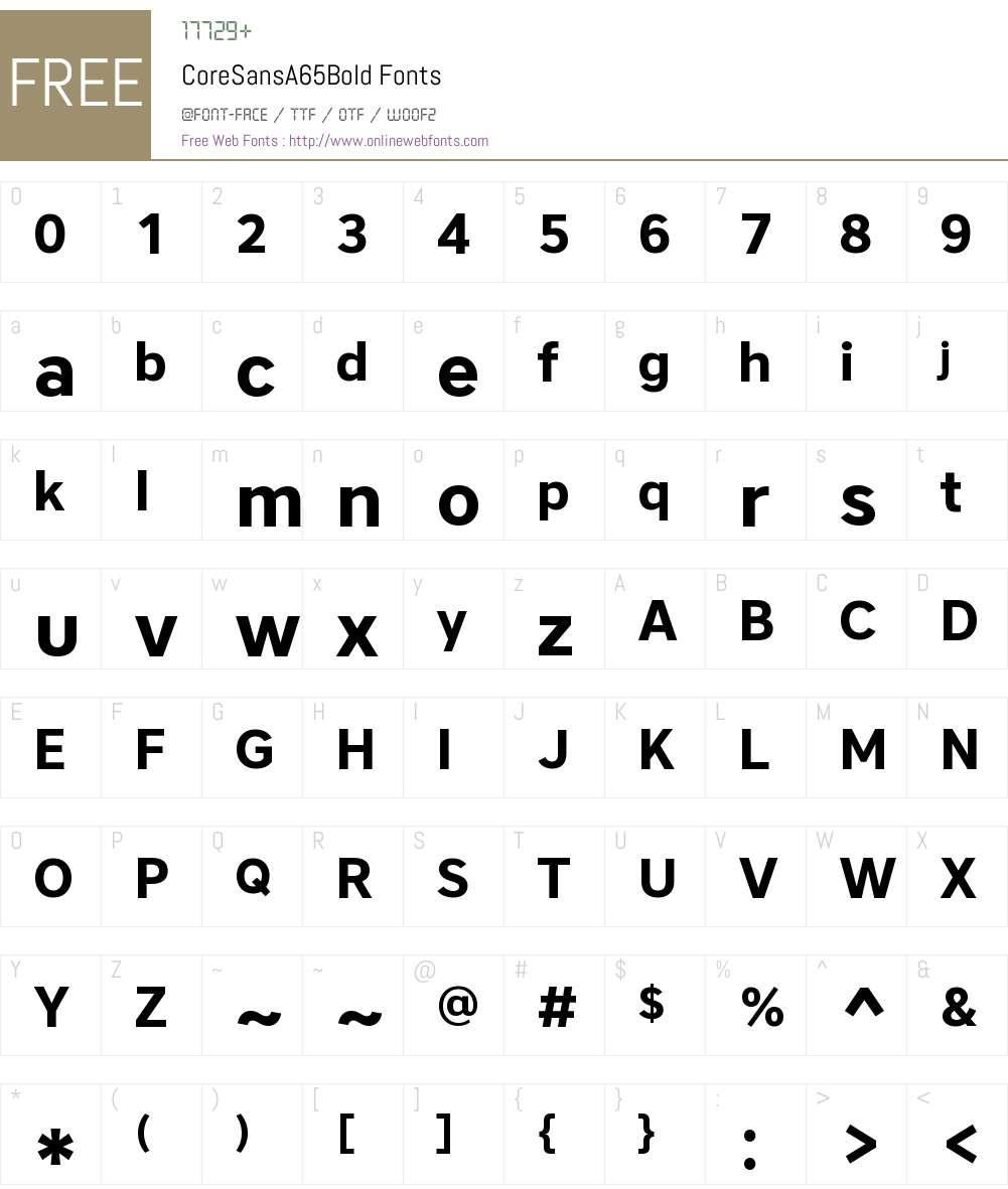 Core Sans A 65 Bold Font Screenshots
