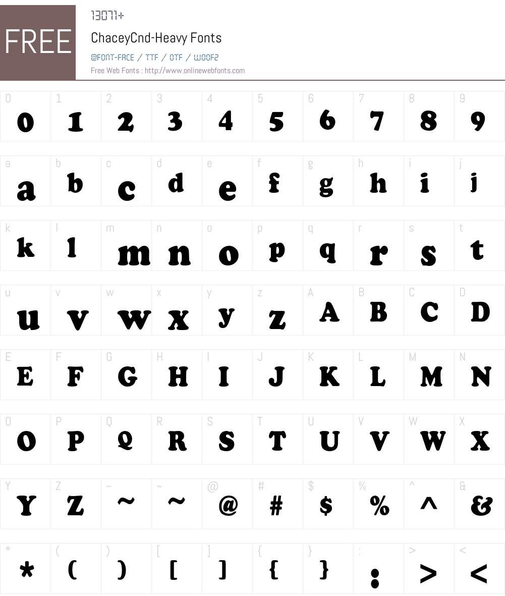 ChaceyCnd-Heavy Font Screenshots