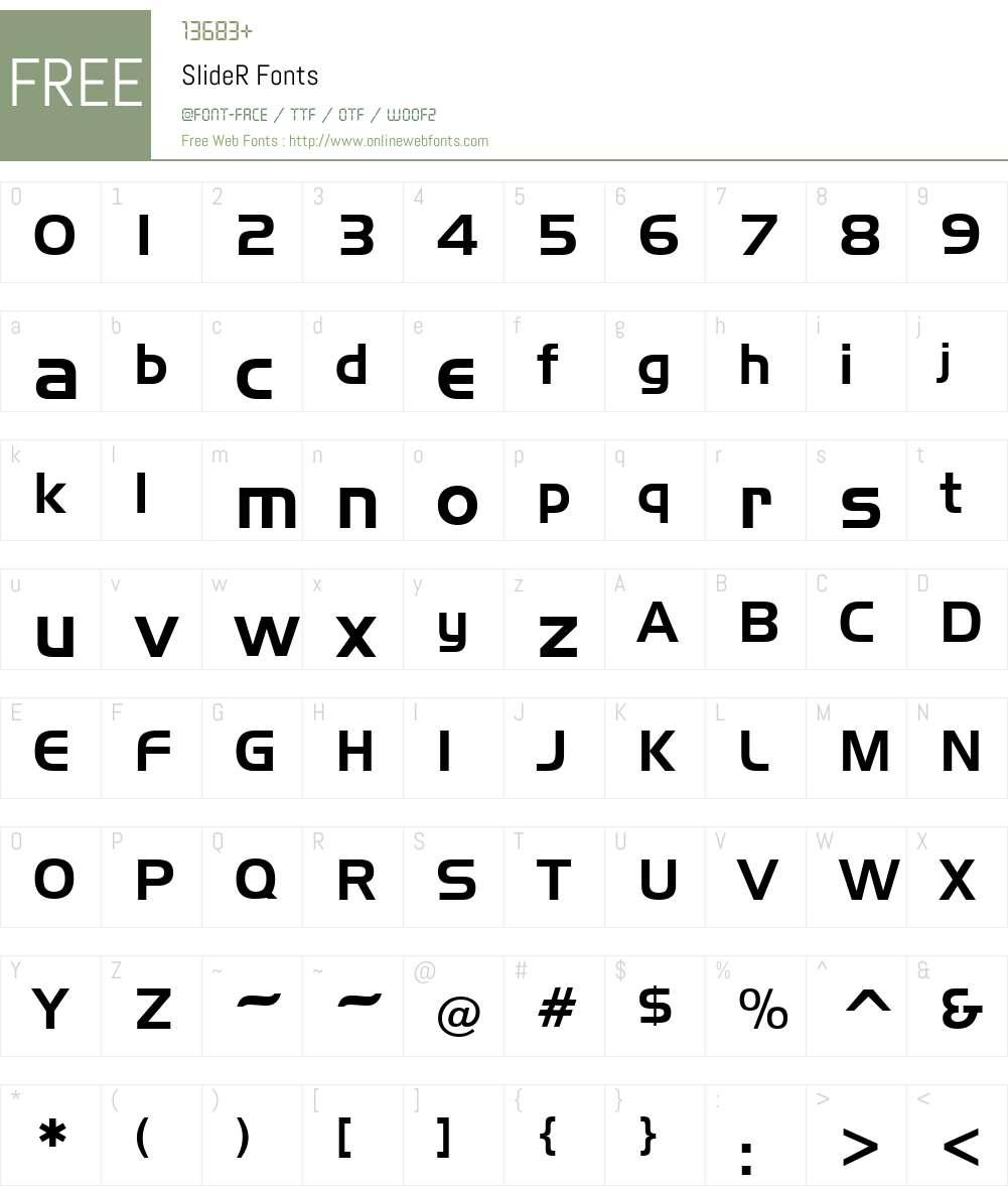 SlideR Font Screenshots