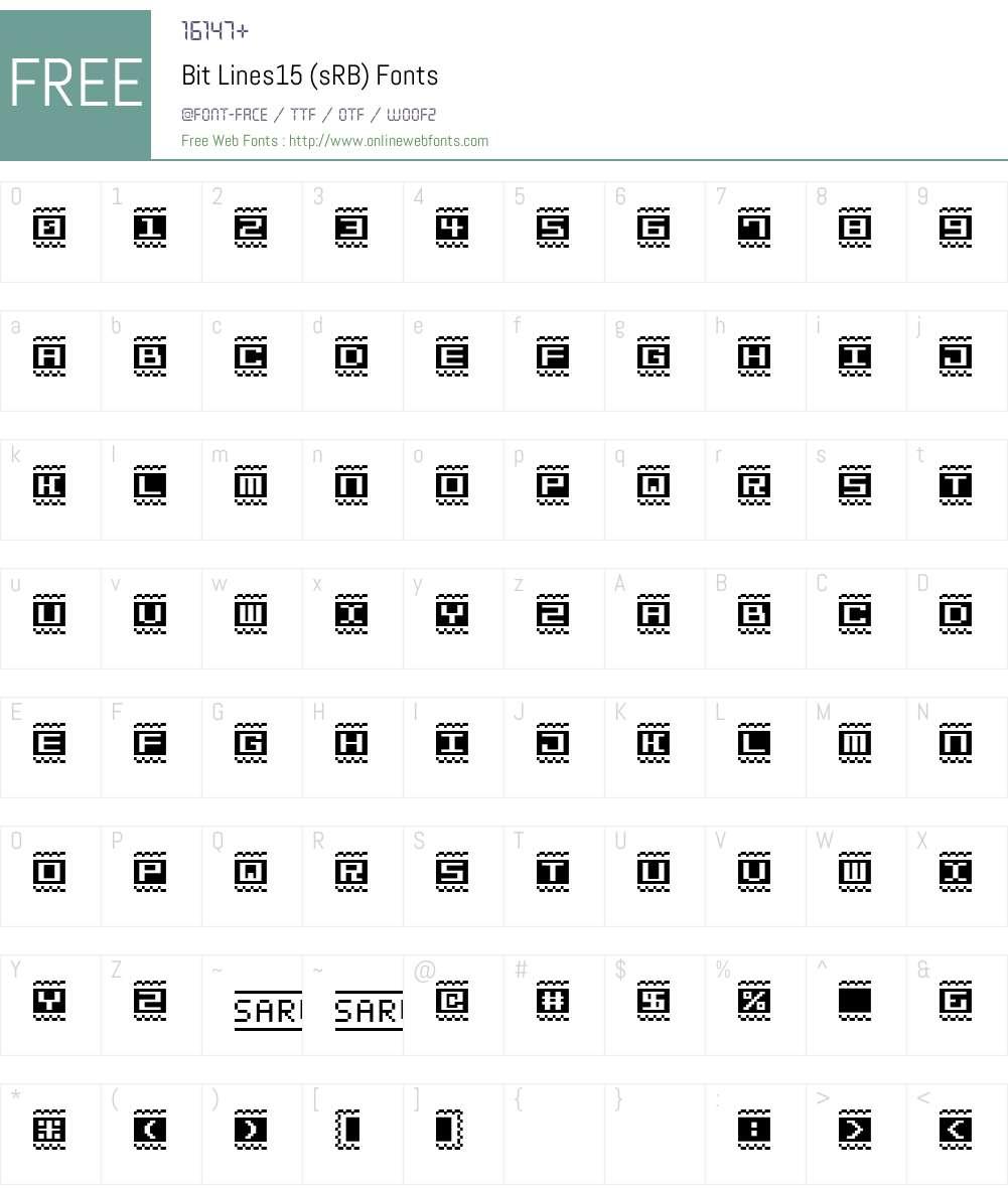 Bit Lines15 (sRB) Font Screenshots