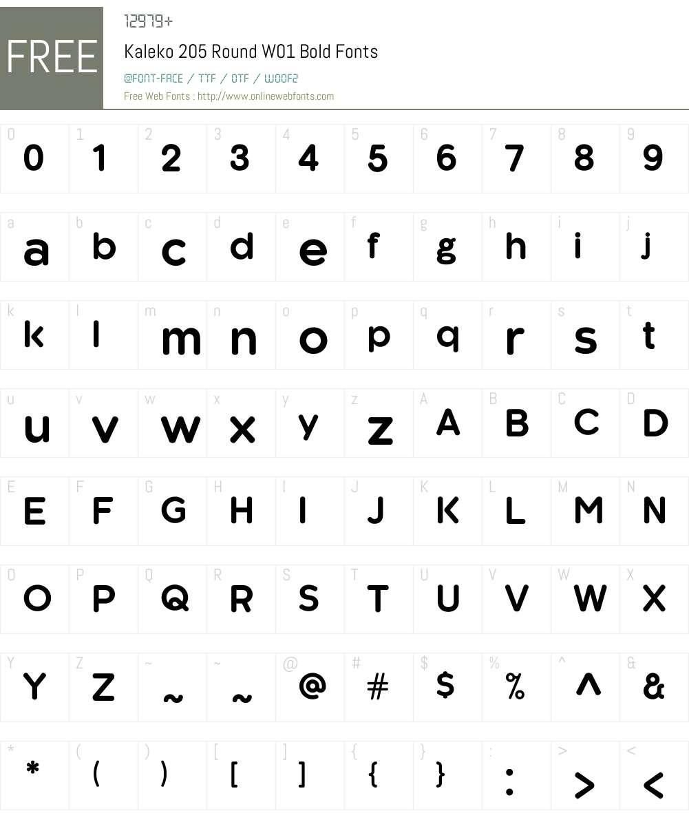 Kaleko205RoundW01-Bold Font Screenshots