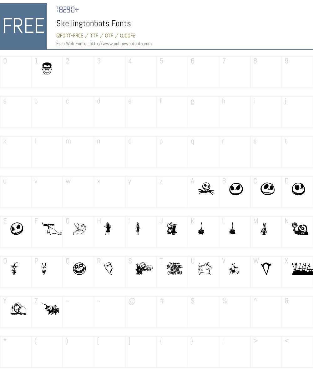 Skellingtonbats Font Screenshots