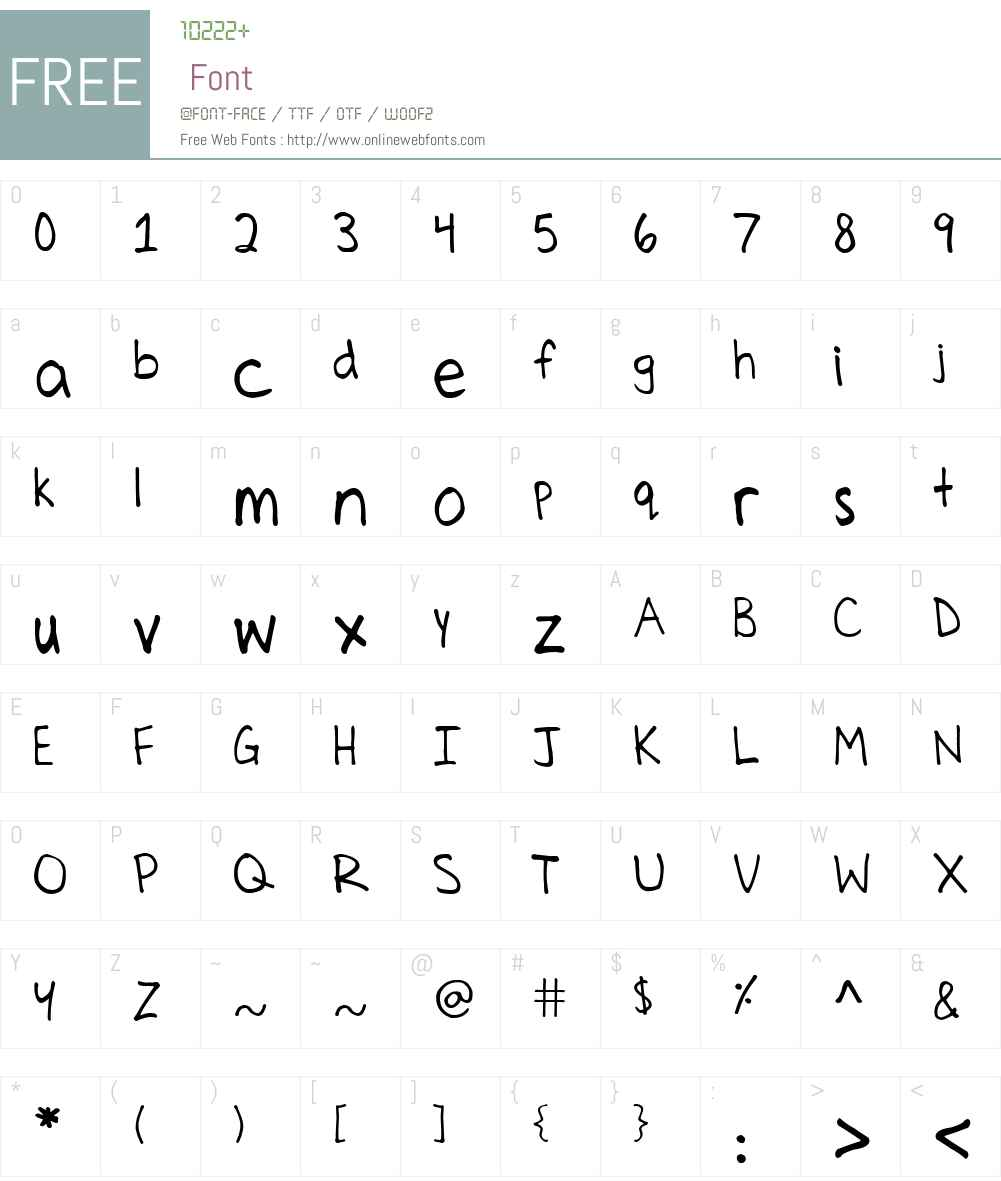 Celines Hand Font Screenshots