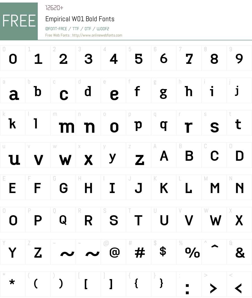 EmpiricalW01-Bold Font Screenshots