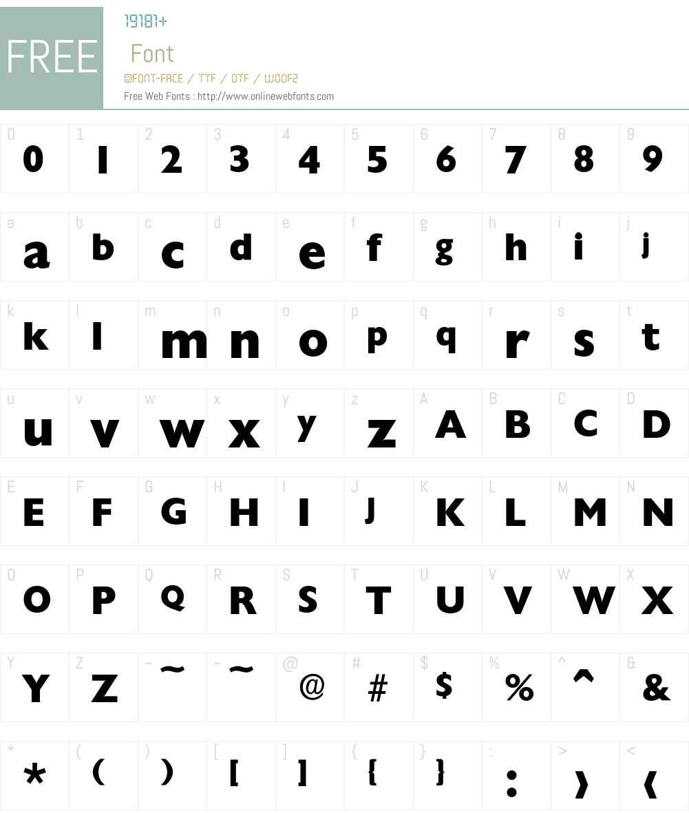 Chantilly-ExtraBold Font Screenshots