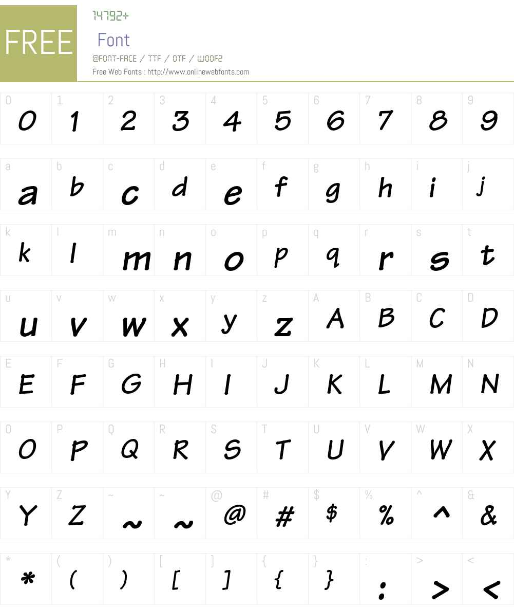 Tekton Font Screenshots