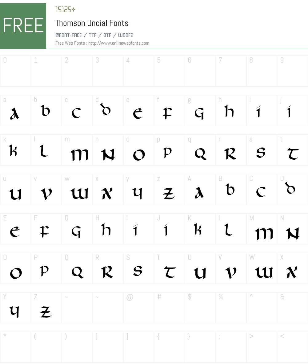 Thomson Uncial Font Screenshots