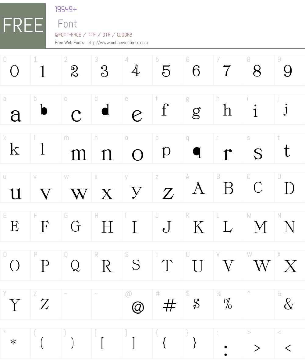 Cordella-Roman Font Screenshots