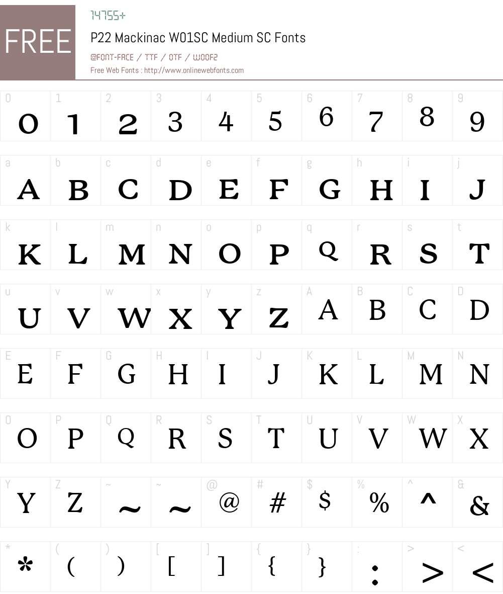 P22MackinacW01SC-MediumSC Font Screenshots