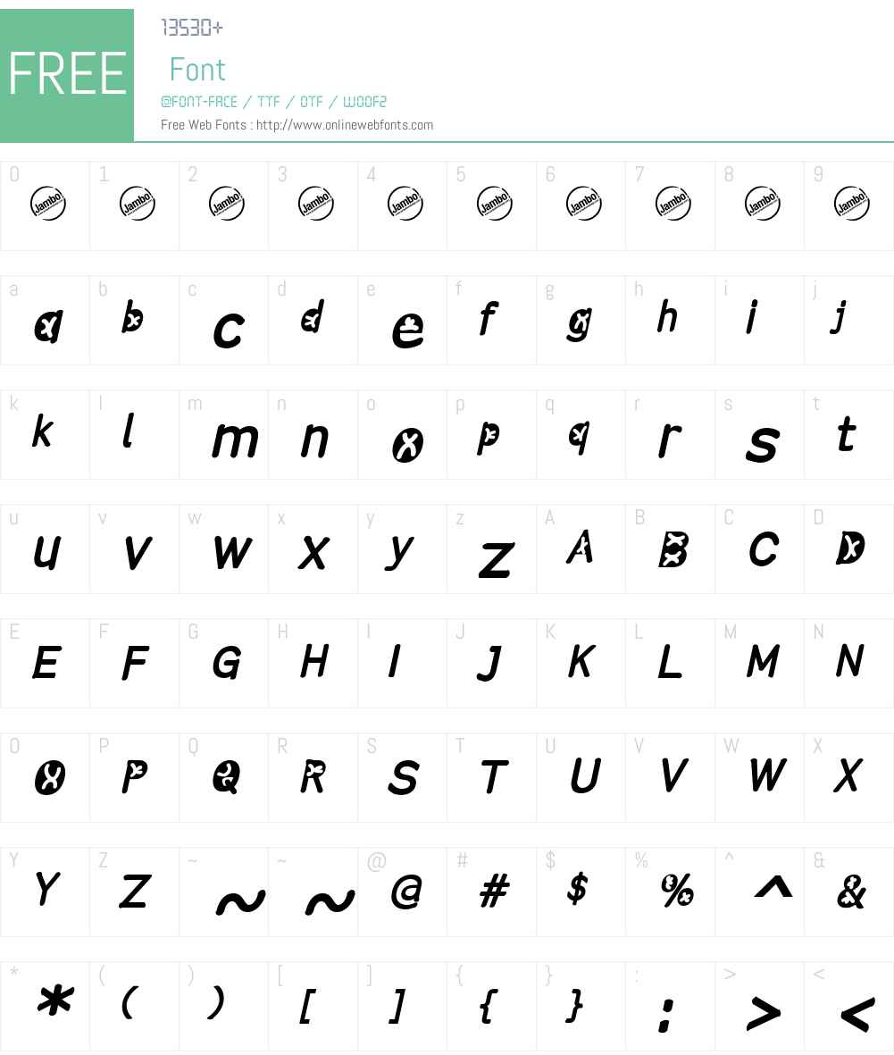 Comistain Font Screenshots