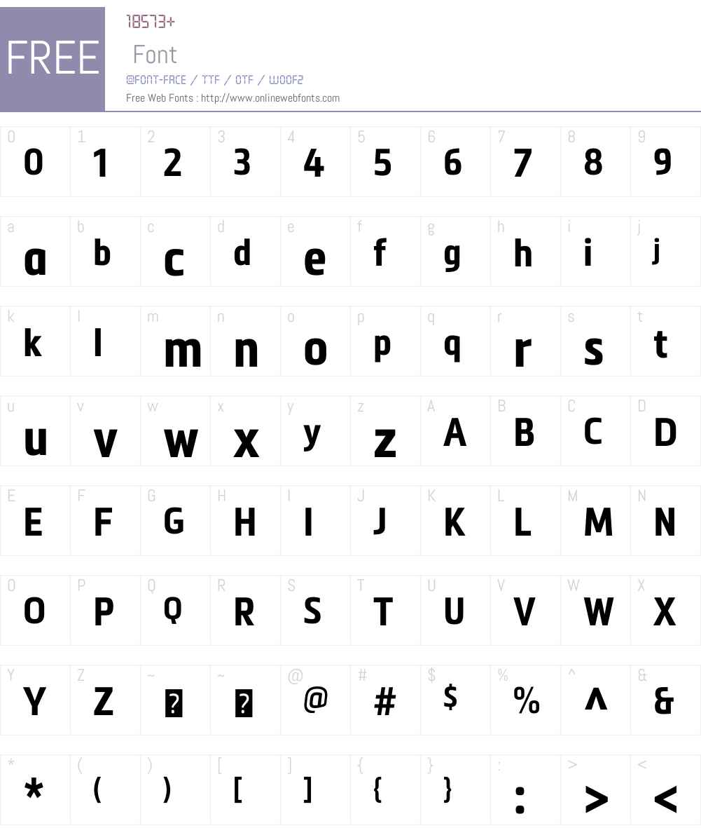 Metronic Condensed Font Screenshots