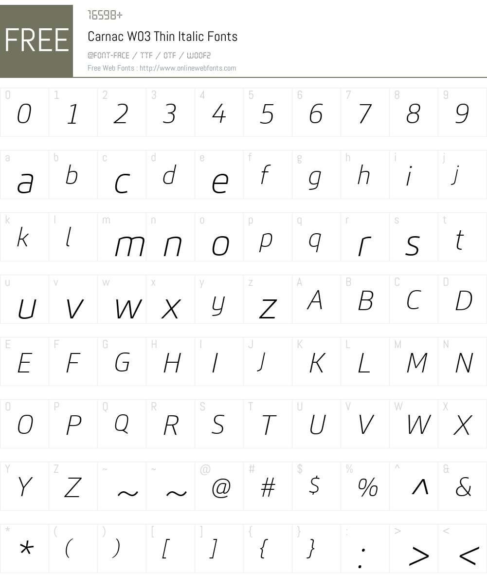 Carnac Font Screenshots