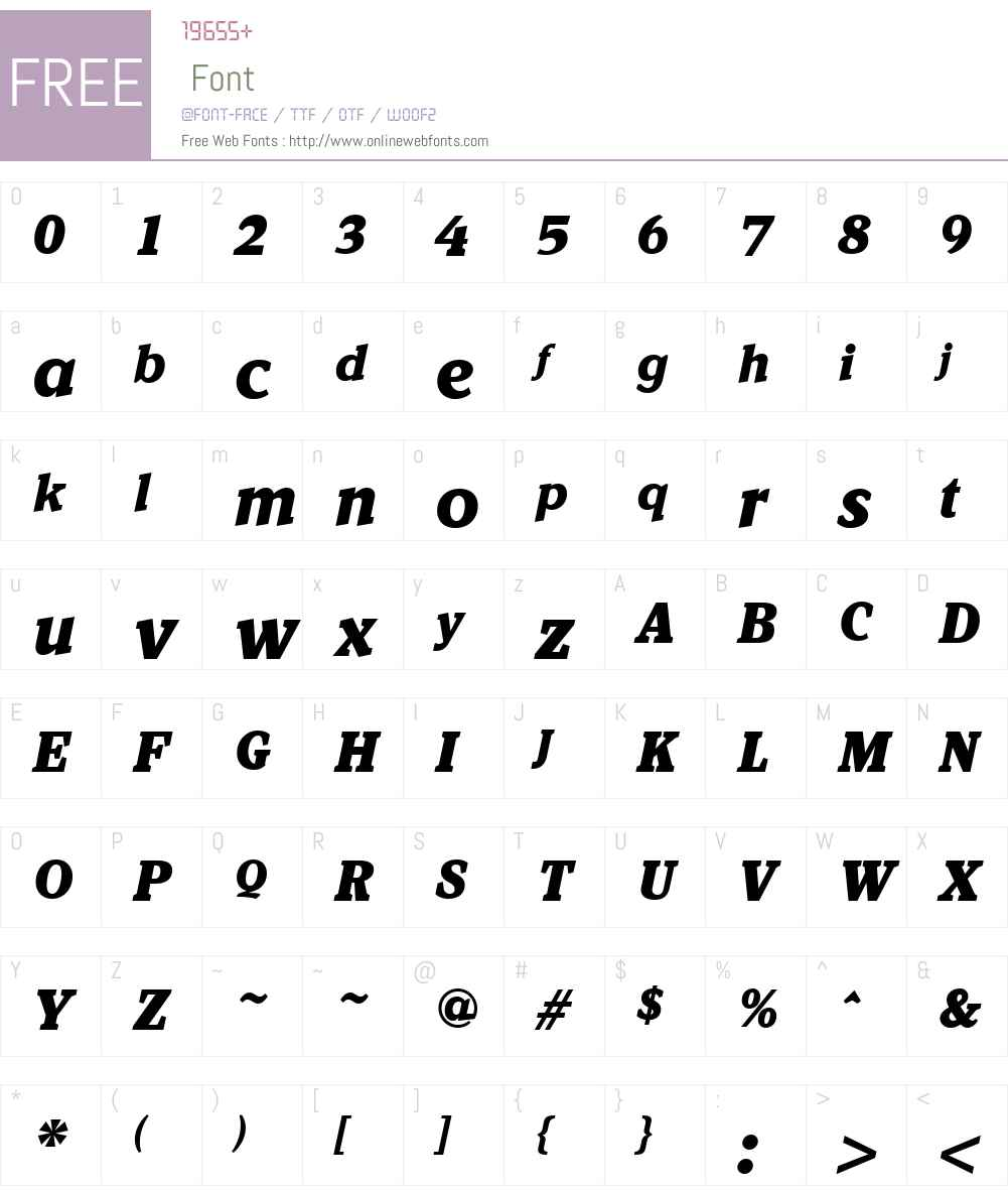 KandalW01-BlackIt Font Screenshots