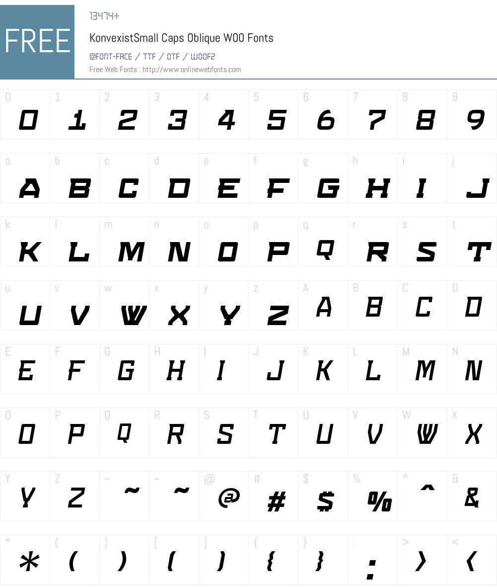 Konvexist Font Screenshots