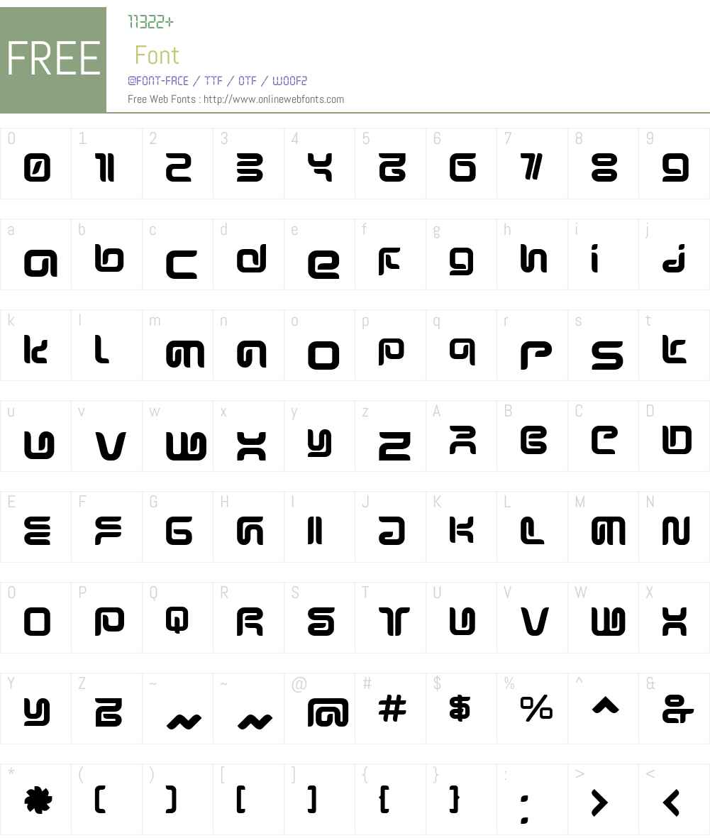 SharpBold Font Screenshots