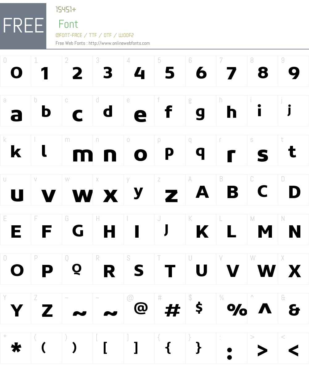 ConcordW00-Bold Font Screenshots