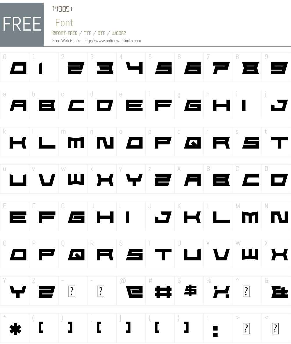 FoughtKnight Die Font Screenshots