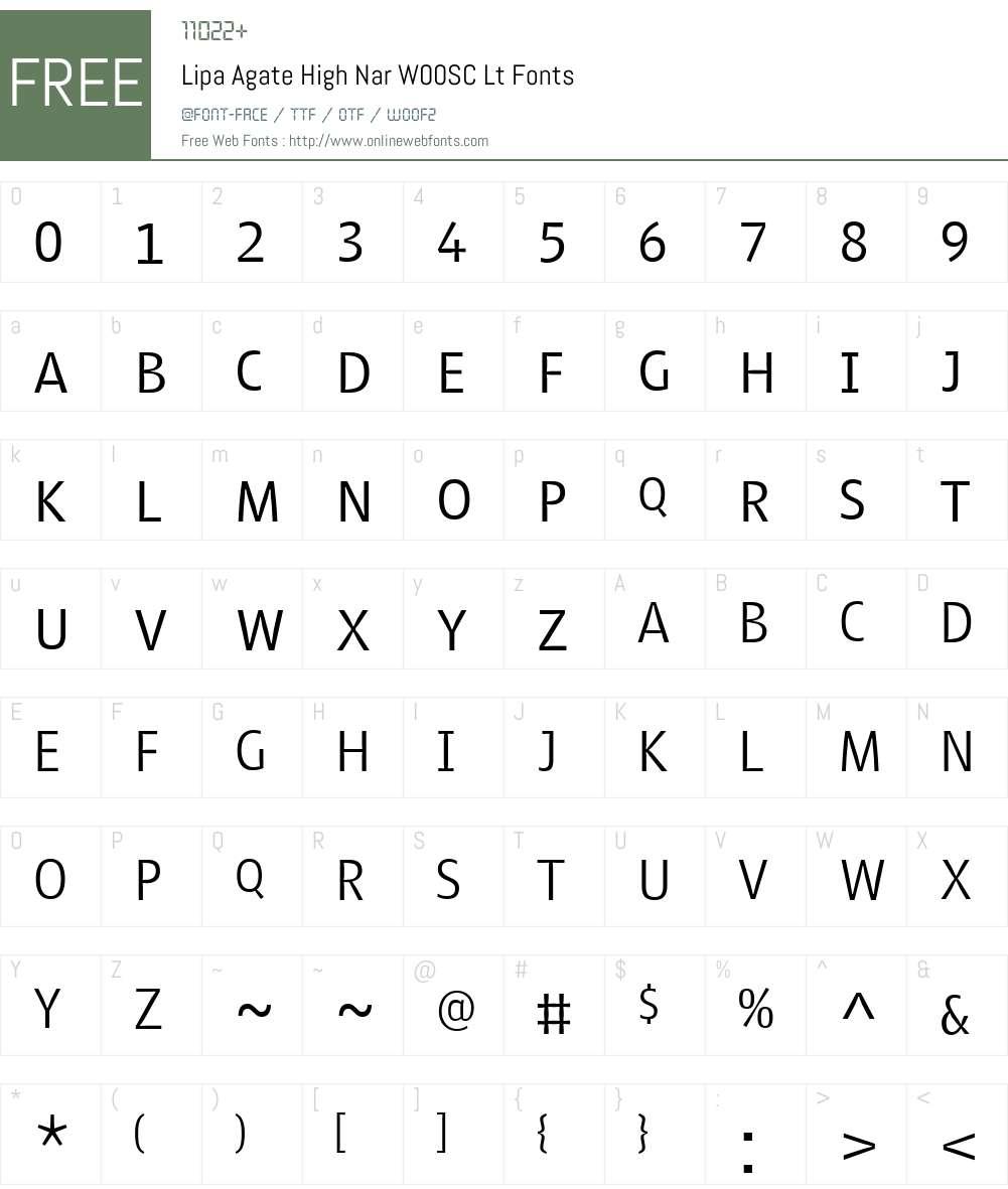 Lipa Agate Font Screenshots