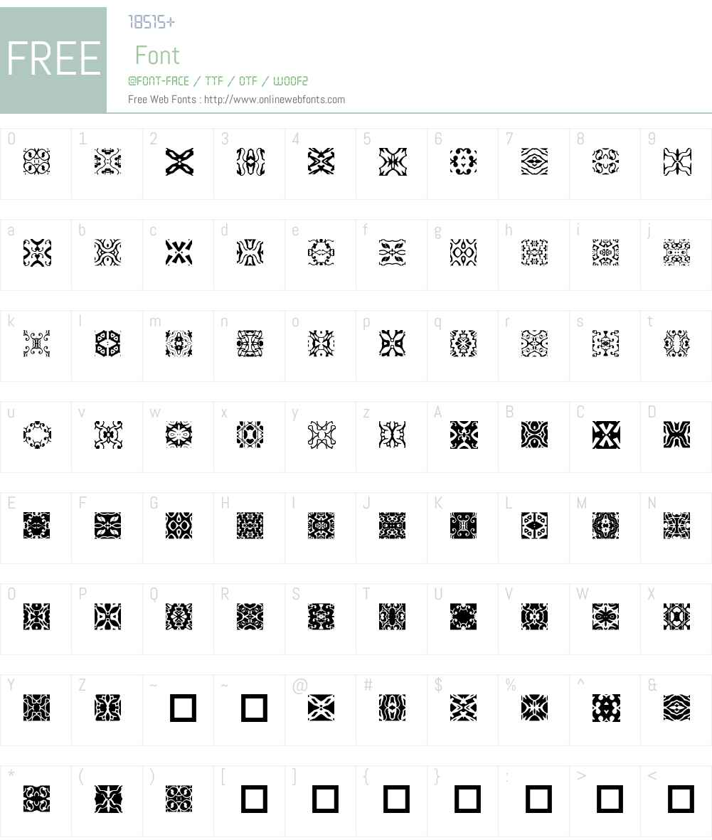 Interloc Font Screenshots