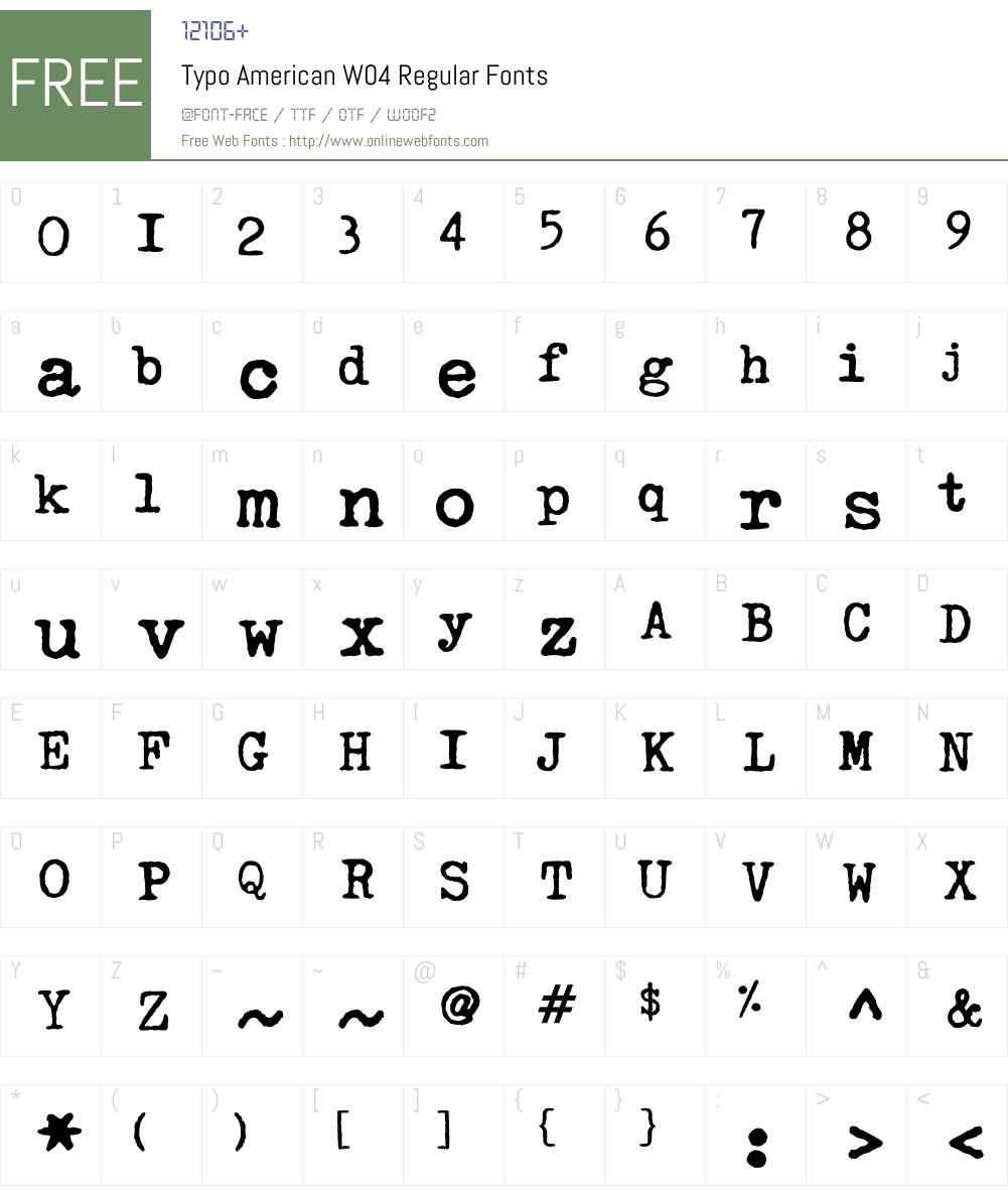 Linotype Typo American Font Screenshots