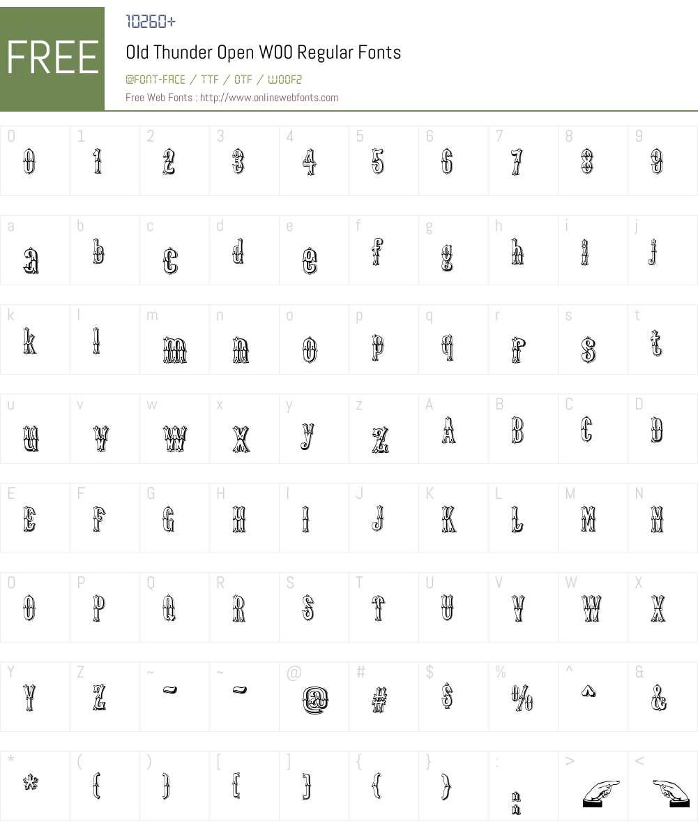 OldThunderOpenW00-Regular Font Screenshots