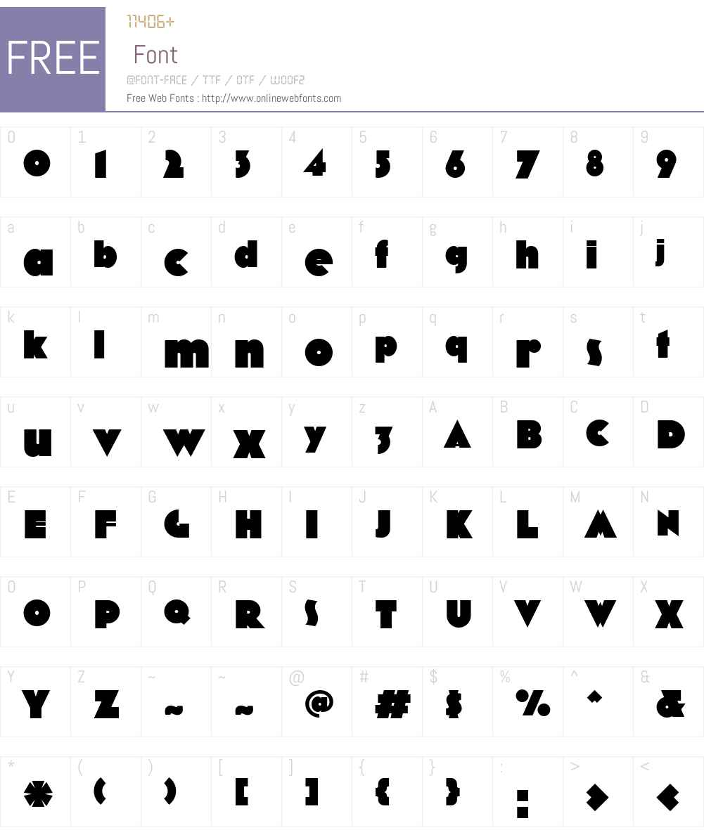 MostraNW00-AltCBlack Font Screenshots