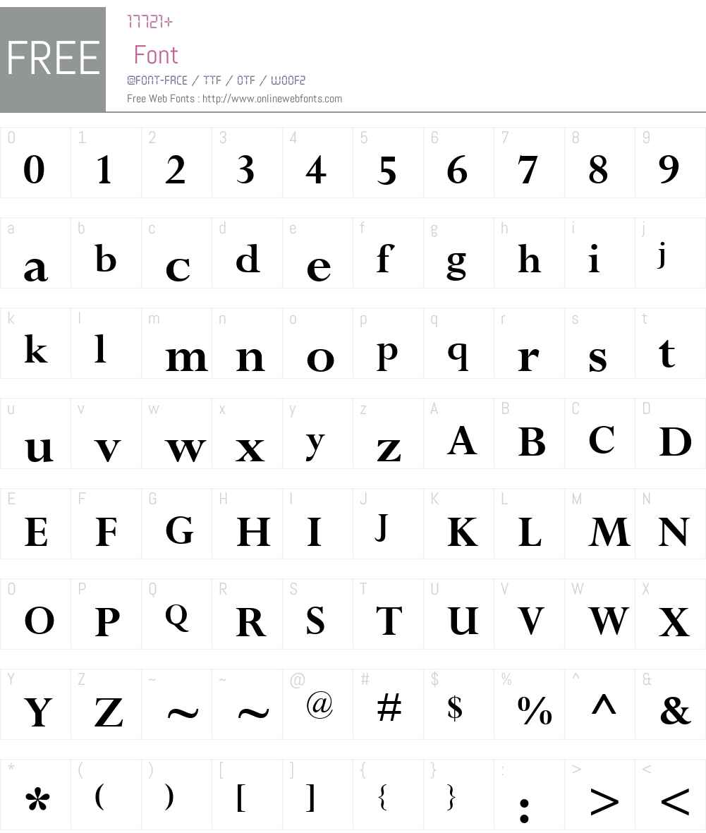 PerpetuaHellenicW15-Bold Font Screenshots