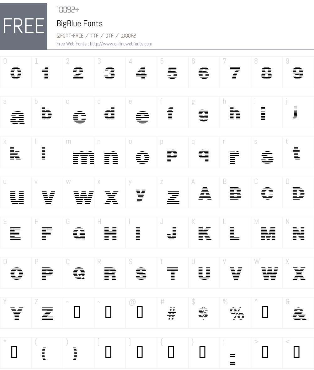 BigBlue Font Screenshots