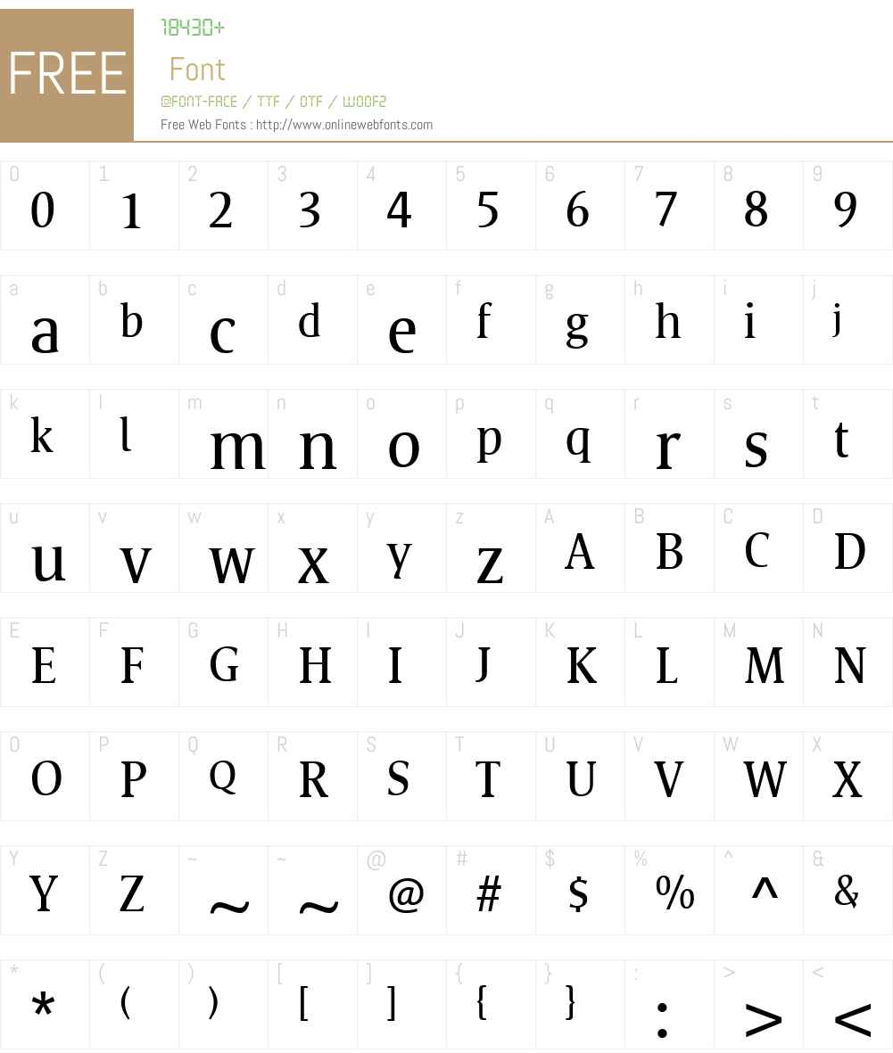 Satero Serif Font Screenshots