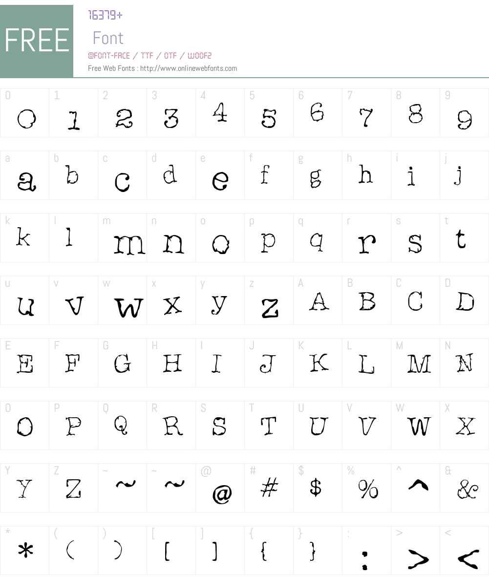 Aargh! Font Screenshots